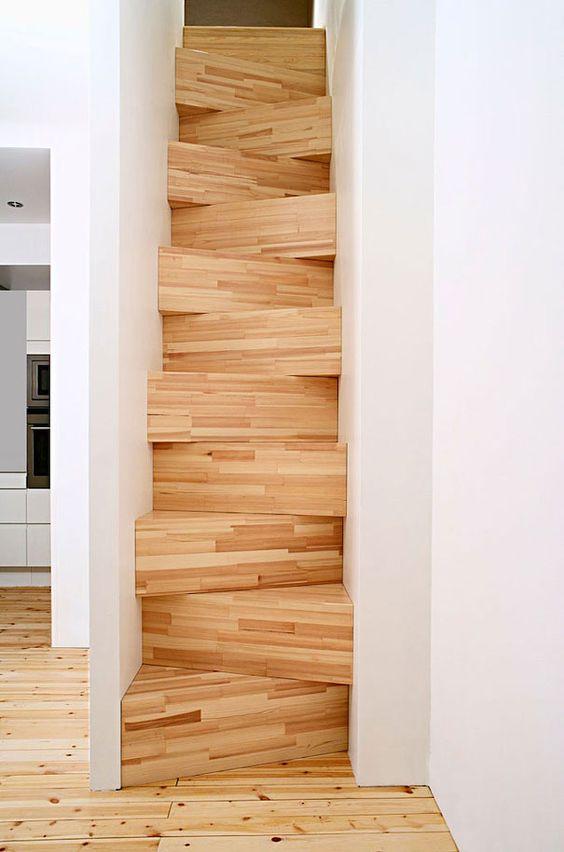 ARREDAMENTO E DINTORNI: scale salva spazio (ad alzata alternata)