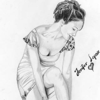 Рисунки карандашом. Alban Dizdari