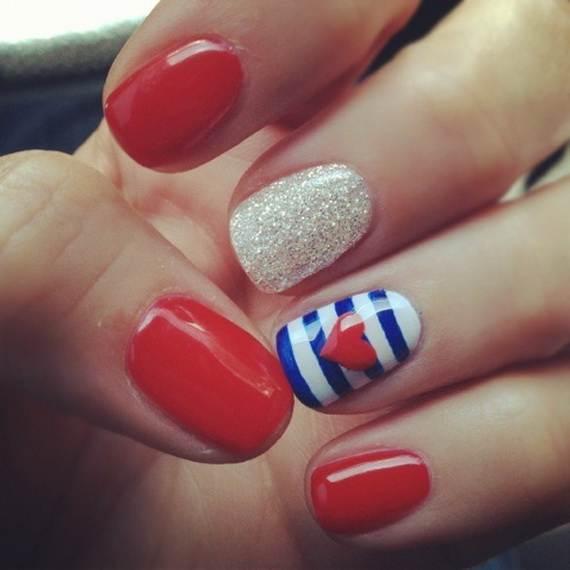 4th of july nail art cutepolish