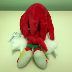 Knuckles stuffed toy back