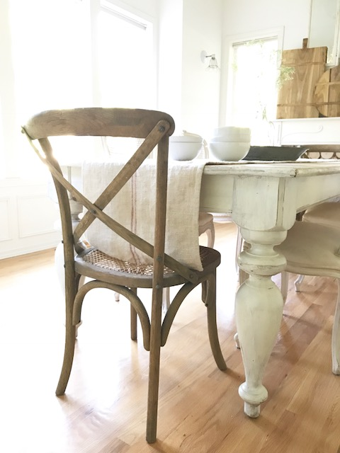 Little Farmstead: Our New Farmhouse Dining Room Chairs {and the gasp ...
