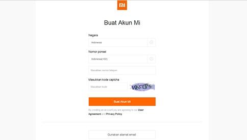 Cara Membuat Akun Mi di HP Xiaomi
