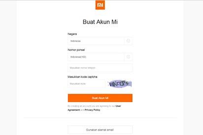 Cara Membuat Akun Mi dan Mi Cloud di HP Xiaomi