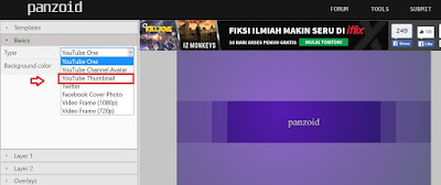 Cara membuat thumbnail video youtube di Panzoid
