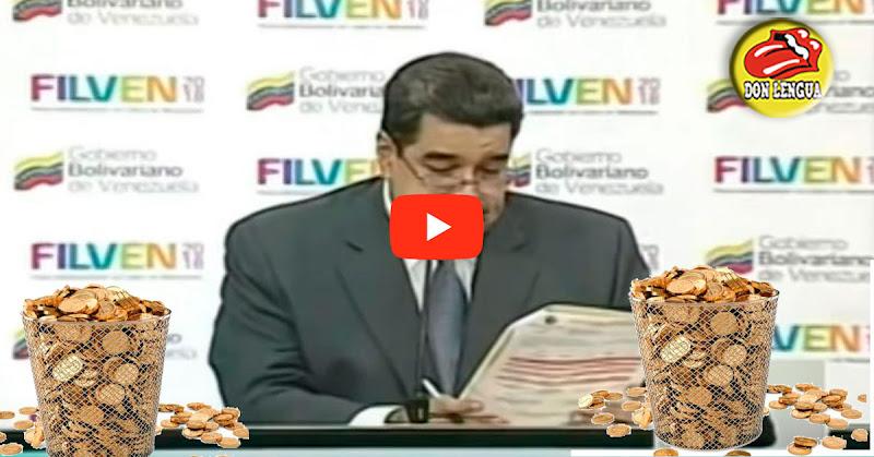 Maduro ofrece dólares para la Biblioteca Nacional pero los paga en Petros