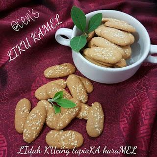 Ide Resep Kue Kering LIKU KAMEL (LIdah KUcing tapioKA karaMEL)