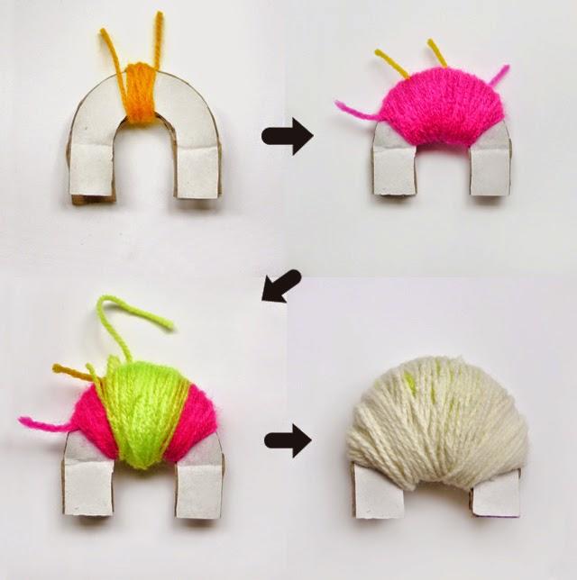 Taller de ana mar a pompones de colores - Para hacer pompones de lana ...