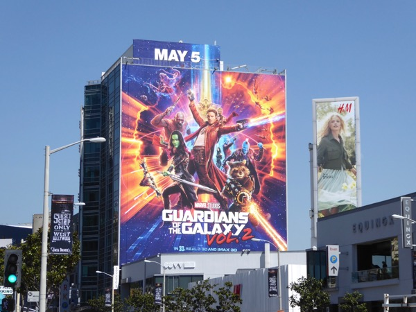 Guardians of the Galaxy 2 movie billboard