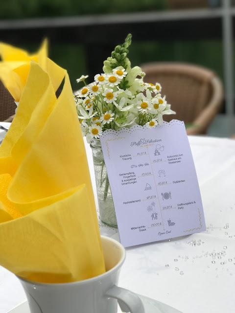Time Line Zeitpläne, Hochzeit in Gelb, Sommer, Sonne, Natur, Sommerhochzeit am See in den Bergen, Riessersee Hotel Garmisch-Partenkirchen, Hochzeitsplanerin Uschi Glas