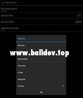 Atur jadwal wifi aplikasi wifi scheduler
