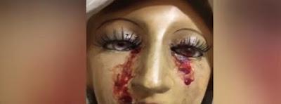 Virgen de la Inmaculada llora sangre