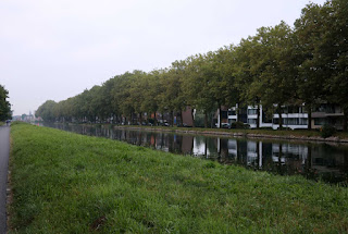 Looking towards work along the canal