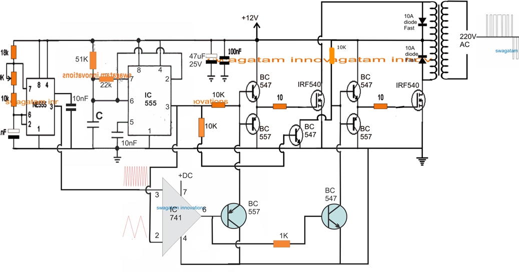 spwm inverter circuit using ic 555