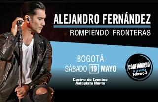 ALEJANDRO FERNANDEZ en Bogota 2018