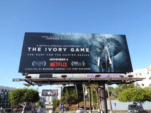 Ivory Game documentary billboard