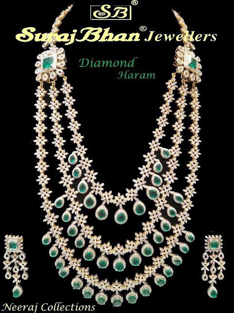 Diamond Emerald Long Haar by Suraj Bhan
