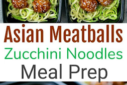 ASIAN GLAZED MEATBALLS WITH ZUCCHINI NOODLES MEAL PREP