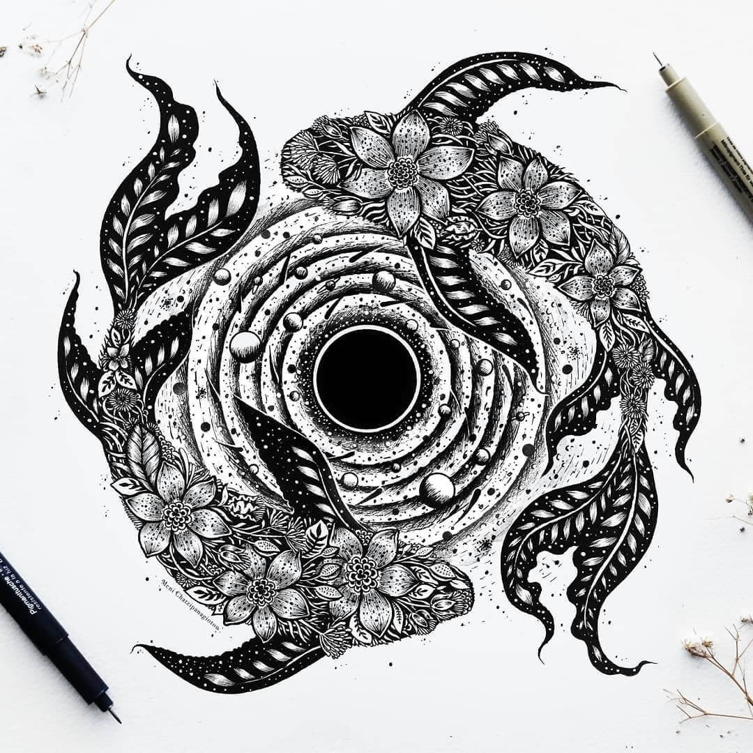 13-Infinity-Koi-Meni-Chatzipanagiotou-Fantasy-and-Surreal-Ink-Illustrations-www-designstack-co