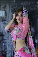 Actress Angela Krislinzki in Pink Saree Blouse Exclusive Pics March 2017 ~  065.JPG