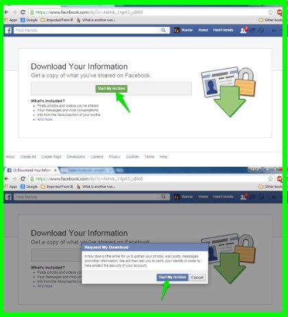 how to backup facebook page data