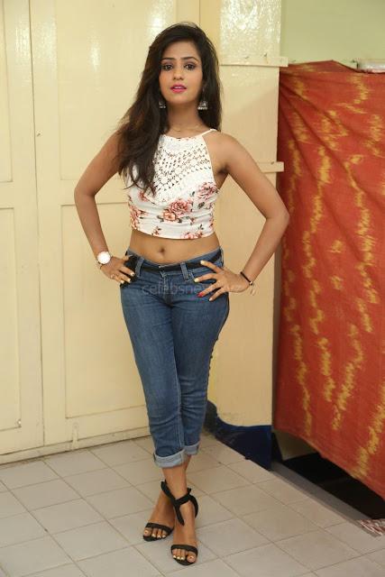 Deekshita Parvathi in a short crop top and Denim Jeans Spicy Pics Beautiful Actress Deekshita Parvathi January 2017 CelebxNext (1).JPG