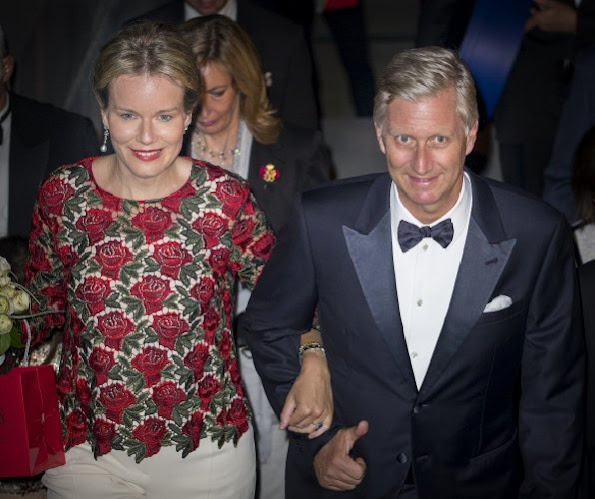 King Philippe and Queen Mathilde of Belgium attends the 8th gala concert of the King Baudouin foundation organized by the East Flanders committee in Gent, Belgium