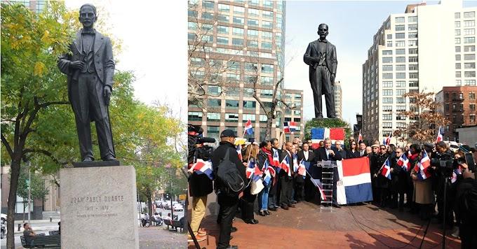 En lista estatua de Duarte y otros símbolos en su memoria que podrían  ser eliminados de lugares públicos en NY