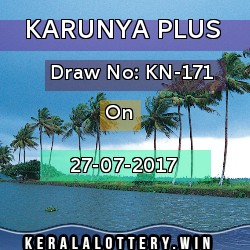 Karunya Plus LOTTERY NO. KN-171st DRAW held on 27/07/2017