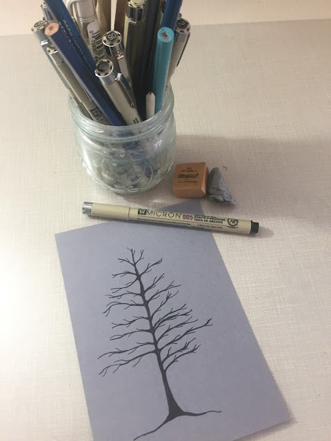 Inked Inspirations by SLMP - Pine Tree Note Card