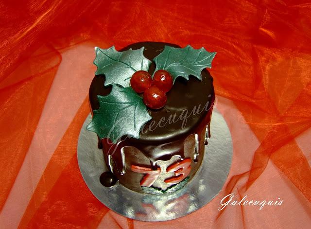 Tarta de cumpleaños navideña