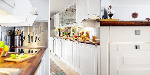 armarios brancos na cozinha