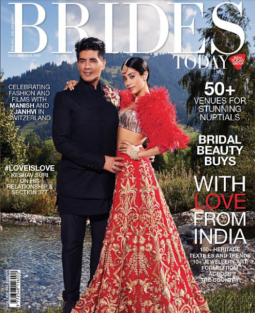 Manish and Jahnvi on the Cover of Brides Today October 2018 Issue
