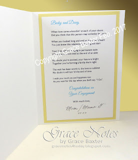 Love Bug Engagement card and poem by Grace Baxter