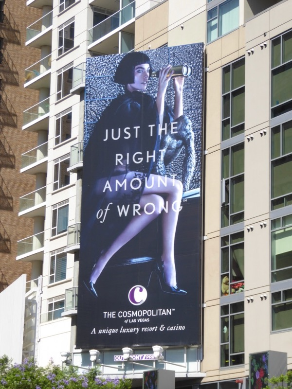 right amount of wrong Cosmopolitan Vegas billboard 2017