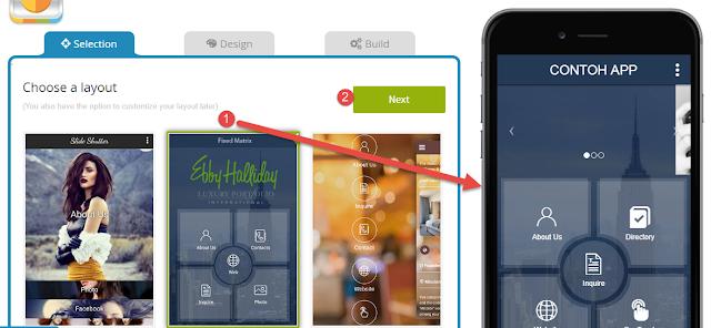 Appy Pie - Mengatur Tata Letak dan Tampilan App Mobile
