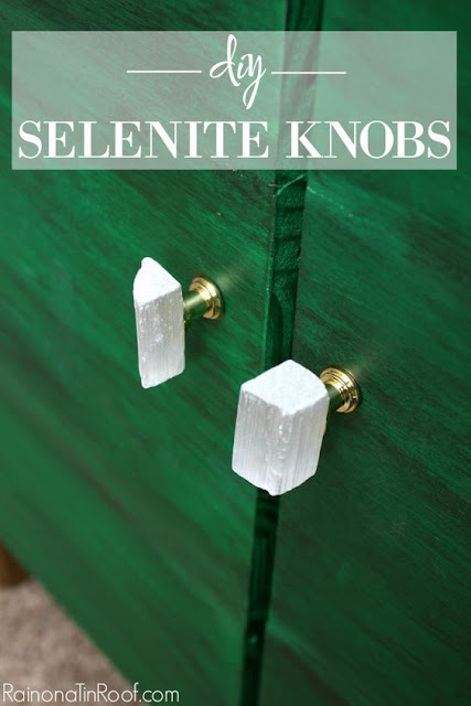 diy selenite knobs