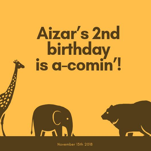 It's Aizar's 2nd Birthday!