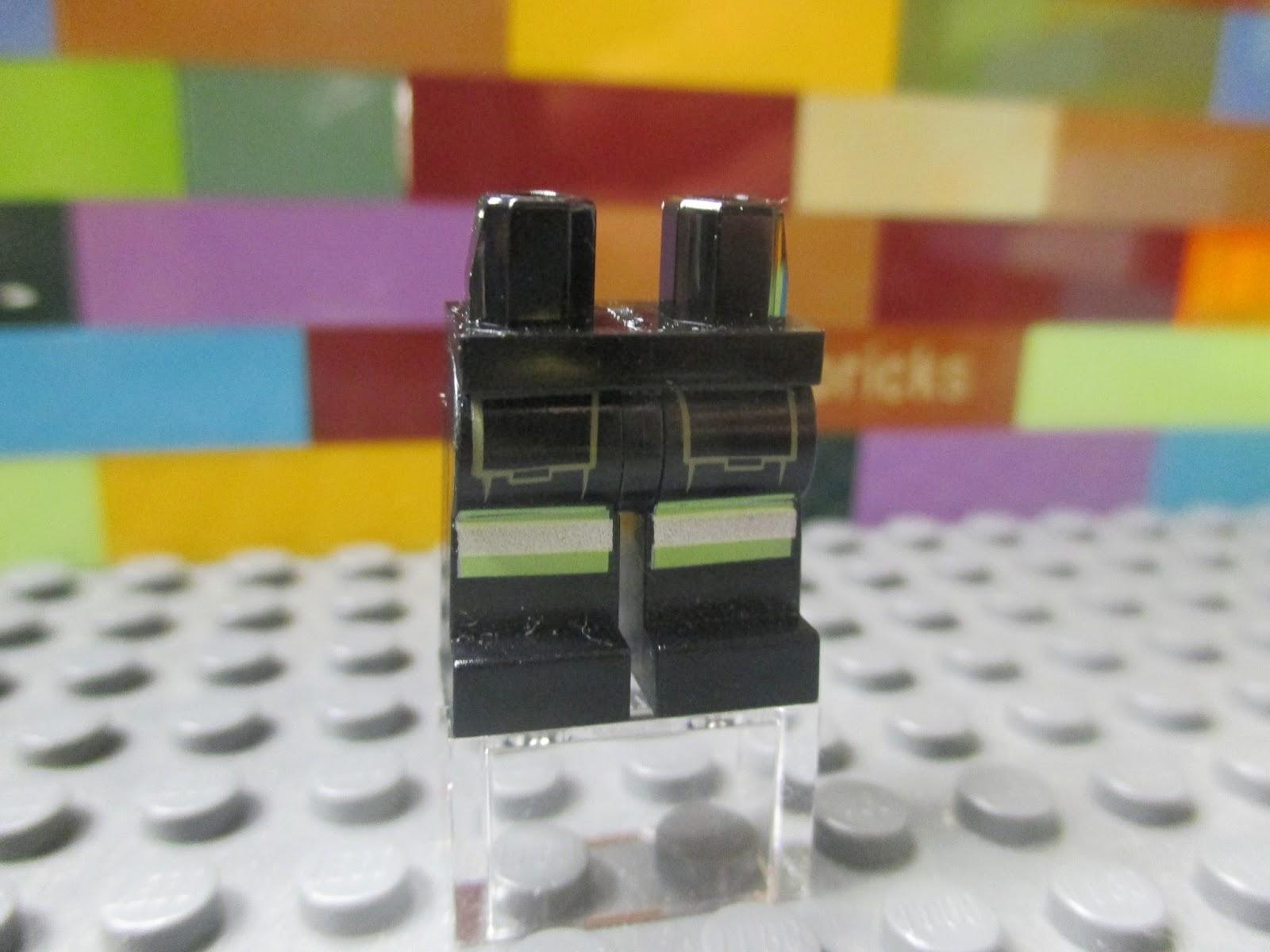 "4/"" w// Black Armor Minifigure LEGO CAS423 Dark Tan TROLL Body Assembled /""No"