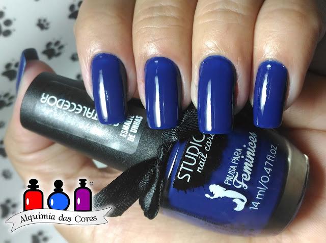 Studio 35, Azul, blue, esmalte, esmaltes, topcoat, Jordana, Pausa para Feminices, DRK, DRK-C, carimbos, Hits,