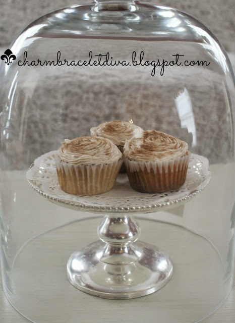 churro cupcakes in cloche charm bracelet diva at home