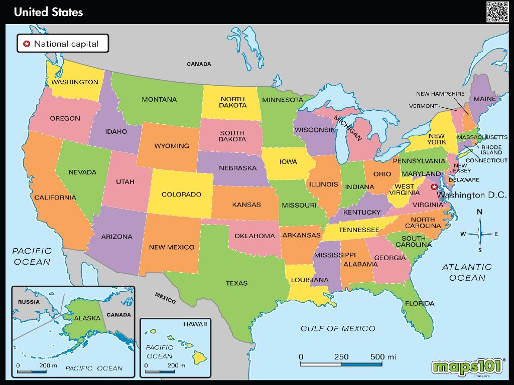 united states map map