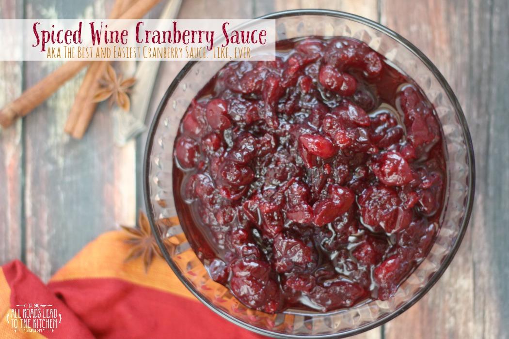 Spiced Wine Cranberry Sauce