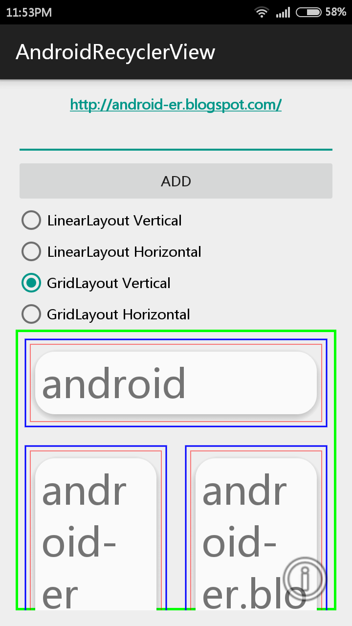 Android-er: Android example using RecyclerView with CardView