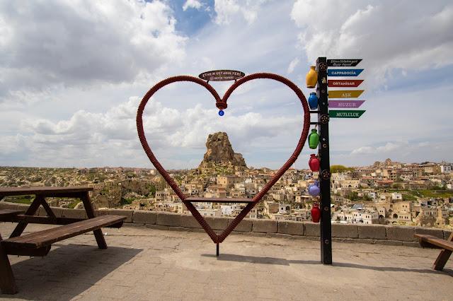 Punto panoramico su Ortahisar-Cappadocia