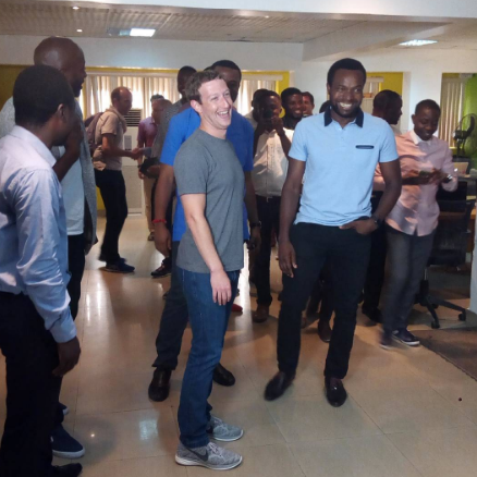 Facebook founder Mark Zuckerberg is in Nigteria