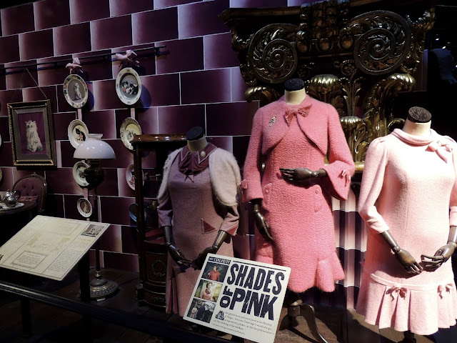 Professor Umbridge costume details and office props.