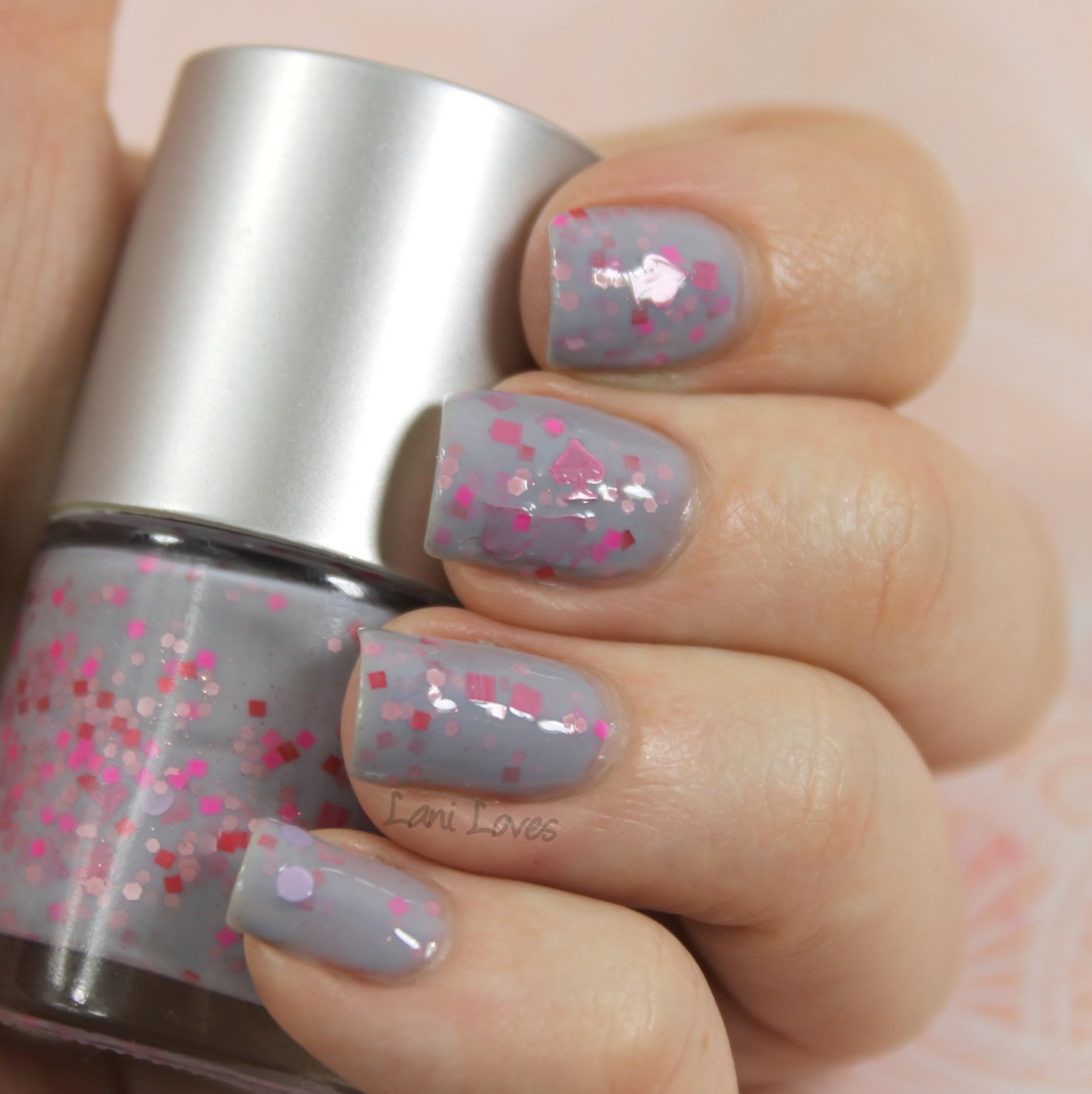 Star Kin Pink of Spades nail polish swatch