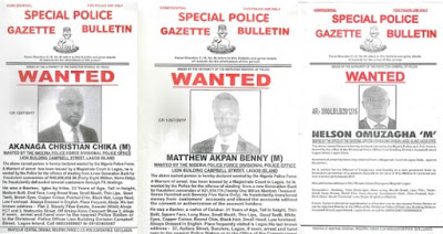Police Declares 8 Bankers Wanted Over Stealing Of Customers Deposits Totaling Over N500M.