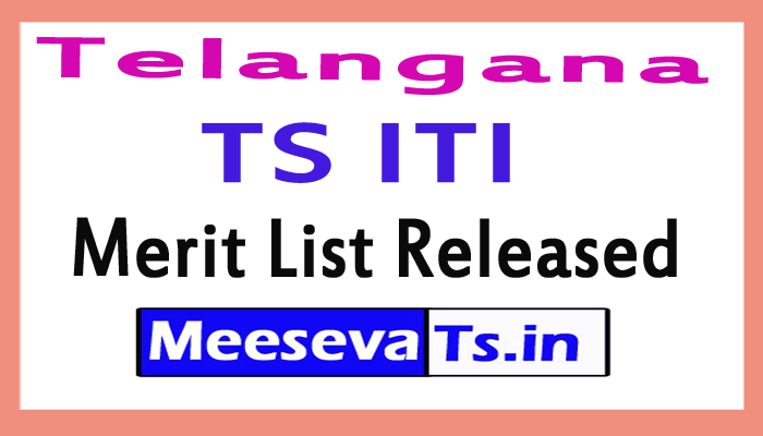 TS ITI Merit List Released 2017