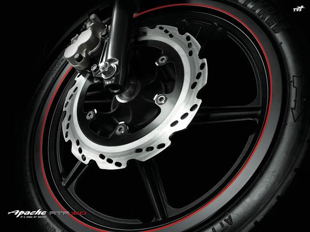TVS Apache RTR 160 front wheel